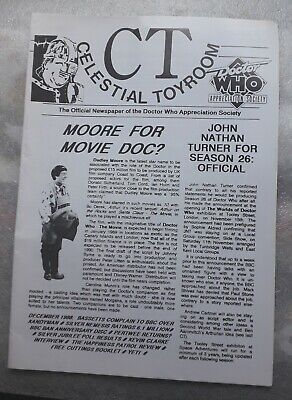 £6.25 • Buy Celestial Toyroom Doctor Who Newspaper December 1988 With Press Release