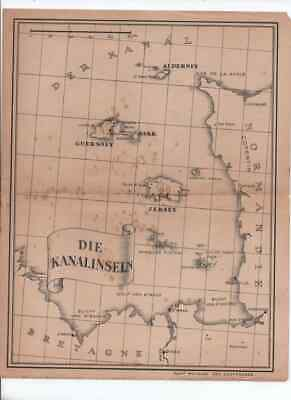 £29.99 • Buy Guernsey,  German Occupation Period  Map Printed By The Germans