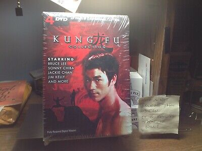 £7.18 • Buy Nip!  Kung Fu Collection  4 Dvd,10 Films,15 Hrs. Bruce Lee,chiba,chan,kelly++new