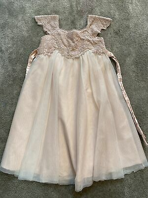 £15 • Buy Pretty Monsoon Estella Flower Girl Dress Age 3-4 Pink Tulle & Lace. Bridesmaid