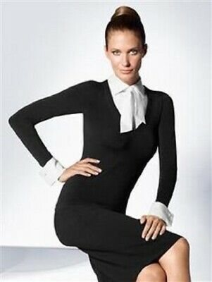 £42 • Buy BNWT Wolford Rome Pullover Blouse Removable Cuffs/Collar Black White Size Small