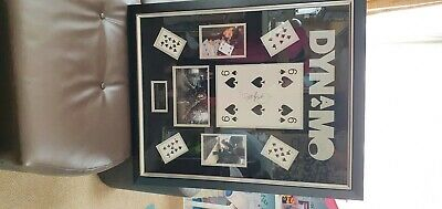 £270 • Buy Dynamo Signed Photo With Playing Card In All Large Frame