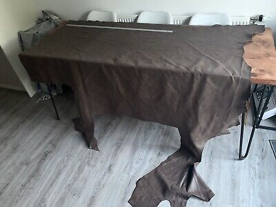 £64.50 • Buy Soft Aged Brown Leather Hide - Greyish Distressed Aged Brown Leather Cowhide