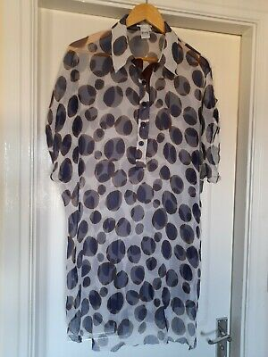 £7.10 • Buy Maryan Mehlhorn Spotted Kaftan Cover Up Size L Sheer