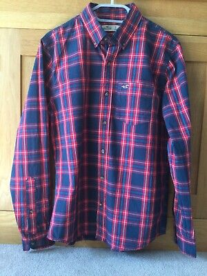 £4.99 • Buy Hollister Mens Blue And Red Checked Shirt - Size Small