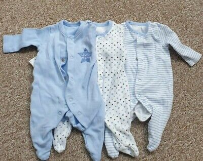 £1 • Buy Baby Boy Sleepsuits 0-3 Months Tiny Baby