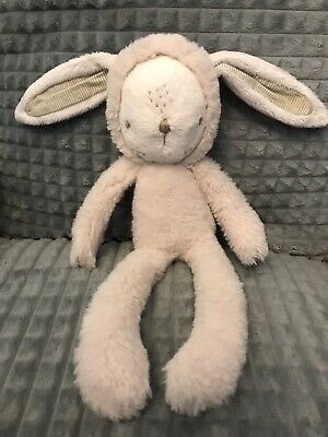 """£29.99 • Buy Mamas And Papas Cream My First Bunny Rabbit Soft Toy Hooded Sleepsuit Rare 12"""""""
