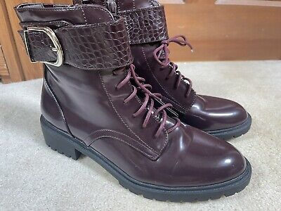 £20 • Buy Marks & Spencer Beautiful Burgundy Boots BNWT Size 6 🌺