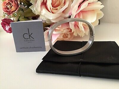 £22.95 • Buy *** Ck Calvin Klein Stainless Steel Bracelet Bangle ~ Boxed & Authenticated ***