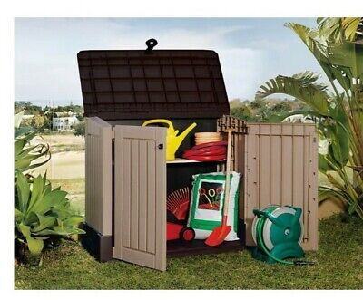 £185 • Buy BNIB Keter Store It Out Midi Outdoor Plastic Garden Storage Shed - Beige/Brown🚚