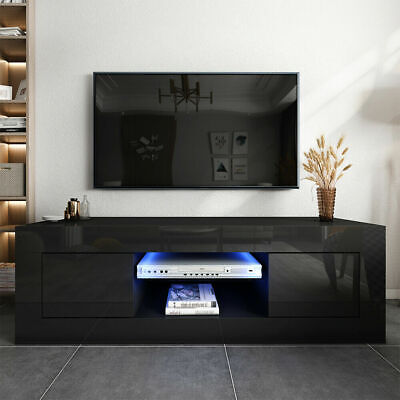 £20 • Buy 125cm High Gloss TV Stand Display Cabinet TV Unit For TVs Up To 55  W/Led Lights