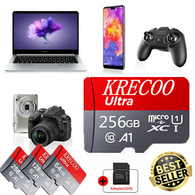 AU6.99 • Buy 256GB High Speed Micro SD Memory Card Fast 4K Class10 Flash TF Card With Adapter