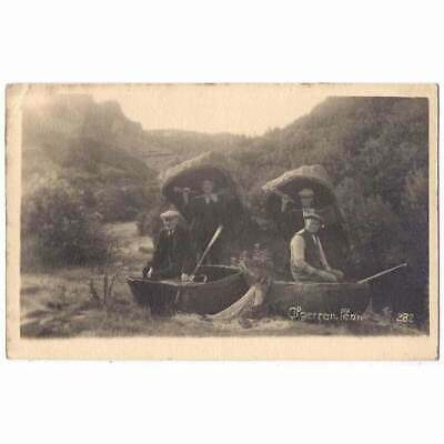 £9.95 • Buy CILGERRAN Pembrokeshire Men With Coracles Postcard By Squibbs, Postmarked 1937