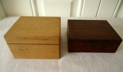 £4.99 • Buy 2 Small Wooden Lined Storage Boxes