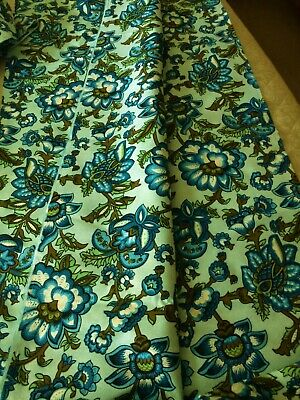 £29.99 • Buy Vintage 60s 70s Floral CURTAIN MATERIAL FABRIC - 10+ Metres / 48  Wide - NEW
