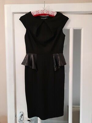 £1.99 • Buy Ladies Size 10 Dorothy Perkins Black Smart Pencil Dress Fitted Peplum Bodycon