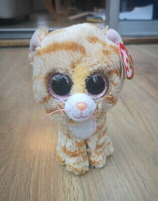 £3.99 • Buy TY Beanie Boos Tabitha Cat - Excellent Condition, Tag Still On, Glittery Eyes