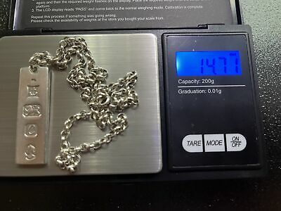 £14.50 • Buy 925 Solid Sterling Silver 1977 Jubilee Hallmark Chain And 925 Solid Silver Ingot