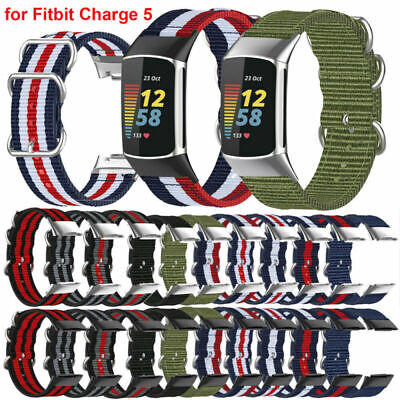 AU7.88 • Buy For Fitbit Charge 5 Smart Watch Nylon Strap Wristband Bracelet Replacement Band