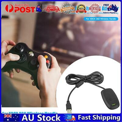 AU28.20 • Buy USB Receiver For Xbox 360 Wireless Controller Gamepad PC Adapter Black