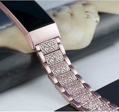 AU19.99 • Buy Lady Stainless Steel Strap Link Bracelet Watch Band Tool For Fitbit Charge 2/3/4