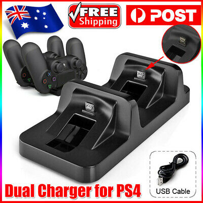 AU15.89 • Buy For PS4 Dual Charging Charger Dock Station Stand For Playstation 4 Controller AU