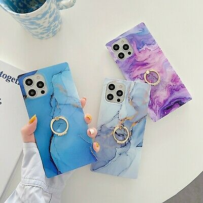 AU14.99 • Buy Marble Phone Case Cover For IPhone 7 8 + XR XS 11 12 Pro MAX Ring Stand Holder