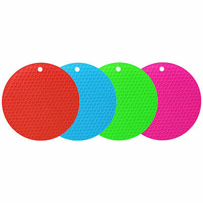 £3 • Buy New Thick Non-slip Heat Resistant Silicone Trivet Round Mat Pan Hot Pot Holder