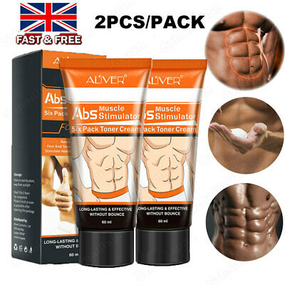 £9.88 • Buy 2X Men Slimming Cream Fat Burning Muscle Belly Stomach Reducer Weight Loss Gel
