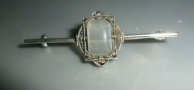 £13.75 • Buy Art Deco Sterling Silver Moonstone And Marcasite Brooch