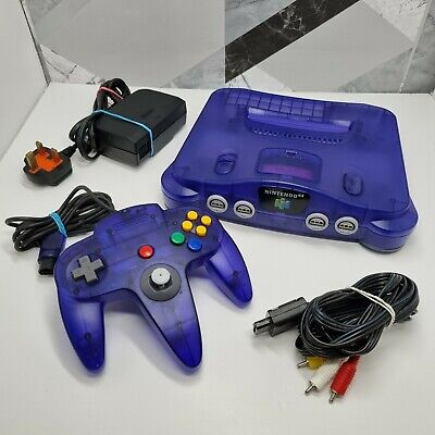 AU294.31 • Buy N64 Nintendo 64 Funtastic Grape Purple Console (PAL) With Controller & Cables