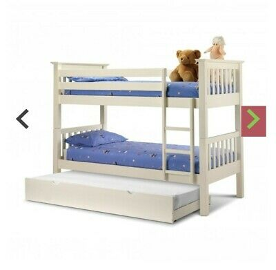 £165 • Buy Wooden Bunk Beds With Trundle And 3 Mattresses