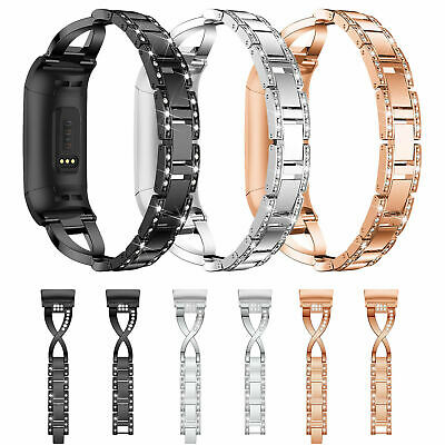 AU14.17 • Buy Replacement For Fitbit Charge 2 Wristband Watch Bracelet Bling Metal Wrist Band