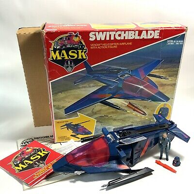 £87 • Buy Vintage 1980's Kenner M.A.S.K Toy Switchblade Helicopter Figure INSERT BOX