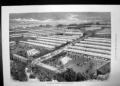 £23 • Buy Old Irish Royal Agricultural Society Show Dublin 1871 Ground Livestoc Victorian