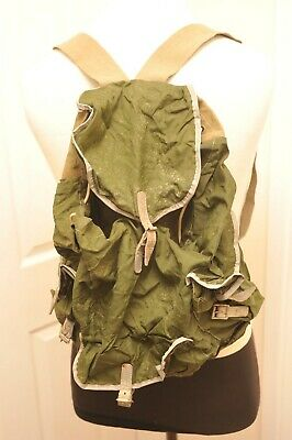 AU36.76 • Buy Vintage Made In England Green Small Day Sack Rucksack Hiking / Bushcraft 10-15l