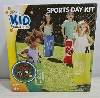£9.99 • Buy Sports Day Kit By Kid Connection Sack Race Bean Bags Leg Loops Egg And Spoon