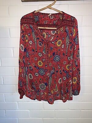 AU220 • Buy Spell And The Gypsy Red Lovebird Blouse Size Large