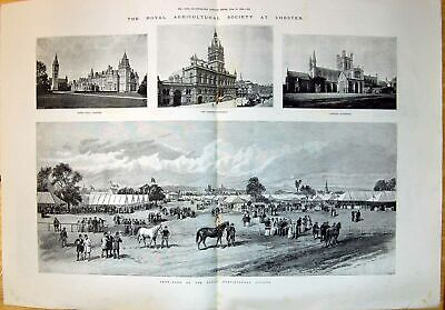 £19 • Buy Old 1893 Royal Agricultural Society Chester Townhall Cathedral EatonVictorian