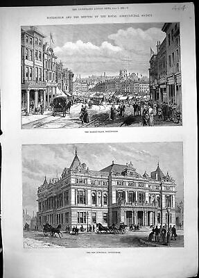 £16 • Buy Old 1888 Market Place Nottingham Townhall Royal Agricultural Society Victorian