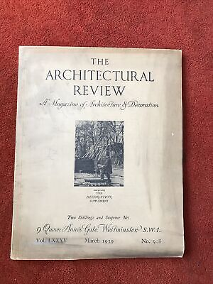 £10 • Buy The Architectural Review. March 1939. No 508. Rare.