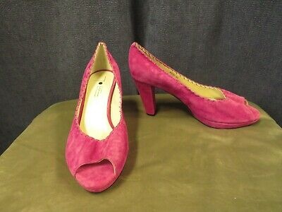 £6.50 • Buy Court Shoes, TO BE, Size 41, Magenta Suede Leather, BN