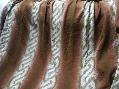 £10 • Buy Pair Large Vintage MCM Scandi 70s Woven Cotton Sateen Curtains. 70 W X 110