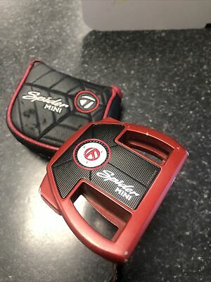 """£22.65 • Buy TaylorMade Spider Mini Putter R/H 34"""" Used With Cover"""
