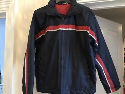 £0.99 • Buy Burton * Casual Padded Jacket Coat * Navy With Stripe * School / College Size S