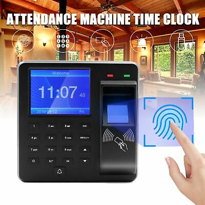 £32.09 • Buy Employee Attendance Time Clock Check In Out Biometric Fingerprint Payroll Device