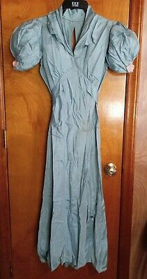 £14.50 • Buy Antique Vintage Early 1900 S Edwardian Long Blue Dress Homemade Size X-Small