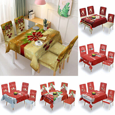 AU12.59 • Buy Christmas Tablecloth Table Cover Cloth Xmas Party Dining Room Kitchen Home Decor