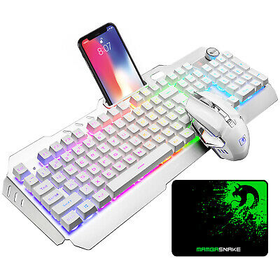 AU69.99 • Buy Wireless Rechargeable Gaming Keyboard Mouse Combo LED Backlit For PC Mac Games