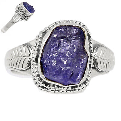 £11.59 • Buy Tanzanite Crystal - Tanzania 925 Sterling Silver Ring Jewelry S.8 BR107296